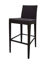 Outdoor Garden Rattan Furniture Barstool Alexis Black Wicker