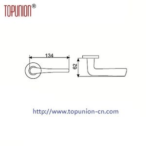High Security Stainless Steel Door Lever Handles (TLH018) pictures & photos