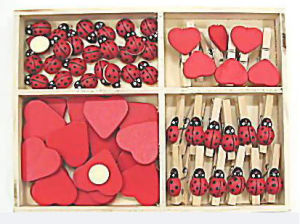 Hearts and Ladybug Sets (WS606D)