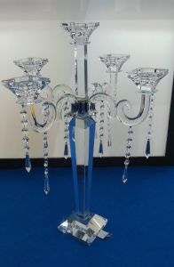 Crystal Candle Holder with Five Posters (KLS140308-62) pictures & photos