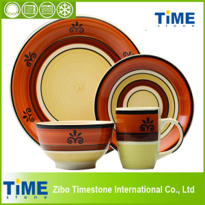 Microwave Ceramic Handmade Dinner Set (082502) pictures & photos