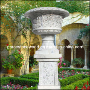 Stone Carved Flower Pot, Marble Garden Planter, Urn (GS-FL-003) pictures & photos
