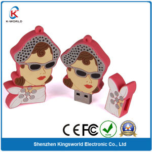 Custom People PVC USB Flash Drive (KW-0280) pictures & photos