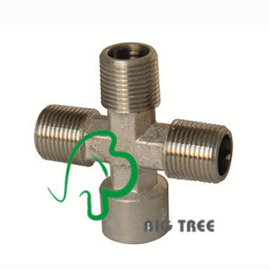 Brass Union Cross Pipe Fitting with Thread Female to Male pictures & photos
