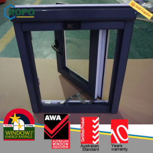UPVC Window Double Glazed, PVC Black Casement Window Design pictures & photos