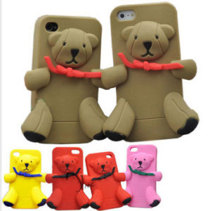 for iPhone Moshino 3D Cartoon Bear Silicon Case