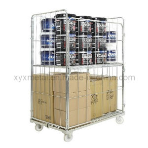 Four Sides Sided Foldable Roll Cage Mesh Jumbo Roll Container pictures & photos