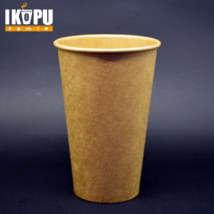 22oz Kraft Coffee Paper Cup with Lid pictures & photos