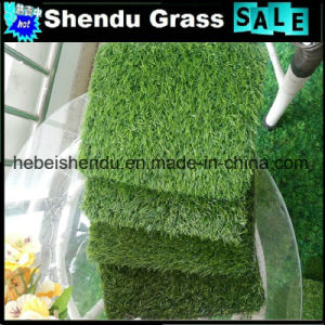 180stitch High Density Lawn Artificial 20mm PE Grass pictures & photos