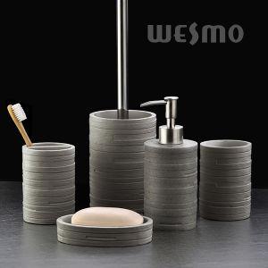 Embossed Polyresin Bathroom Accessories (WBP1146B) pictures & photos