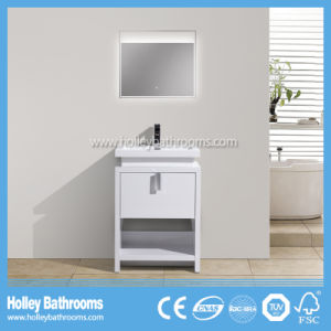 Modern Popular Floor Mounted Bathroom Cabinet with LED Lamp (BF384D)