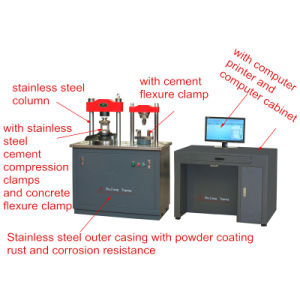 Stye-300c Full Automatic Three Function Flexural and Compression Testing Machine (With Concrete Flexural Testing) pictures & photos