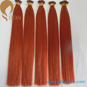 Factory Whoelsale Brazilian Virgin Remy Keratin Human Hair Extension pictures & photos