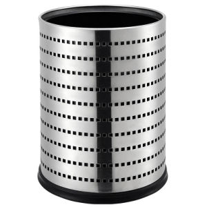 Fashion Design Luxury Round Shape Stainless Steel Trash Bin pictures & photos