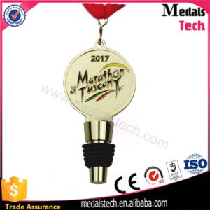 Custom Zinc Metal Silicone Rubber Wine Bottle Stopper Medals pictures & photos