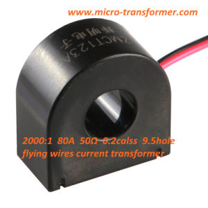 Flying Wires Current Transformer 2000: 1 80A 50ohm 0.2class 9.5hole (ZMCT123A) pictures & photos