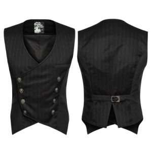 New Stylish Lock Buttons Sleeveless Vest Man Stripe Waistcoat (Y-754) pictures & photos