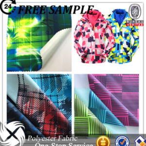Polyester Twill Fabric Printing PU Milky Coating Functional Breathable Fabric for Outdoor Jacket pictures & photos