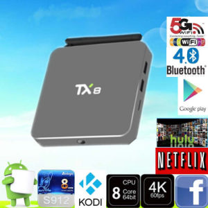 2016 New Arrival Tx8 Android TV Box 64bits Octa Core Amlogic S912 2g 32g Android 6.0 TV Box pictures & photos