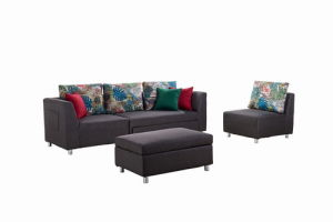 Sectional Fabric Sofa Set with Pull out Bed pictures & photos