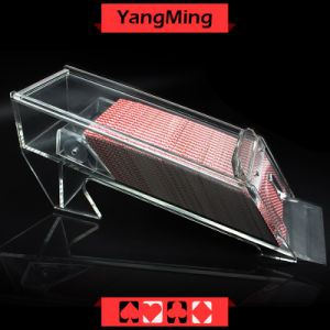 8 Deck / Transparent Clear Acrylic Poker Dealer Shoe Acrylic Lunceny Playing Card Dealer Shoes (YM-DS01-3) pictures & photos