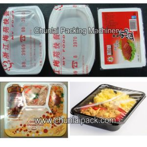Automatic Plastic Tray Filling Sealing Machine pictures & photos