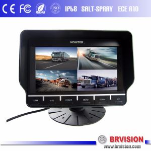 New 7 Inch Color Automobile Quad Monitor with Touch Button pictures & photos