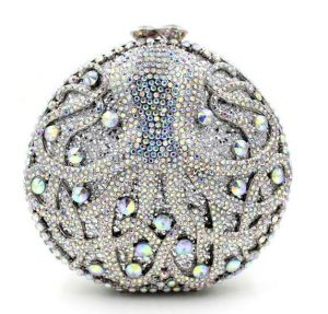High Quality Round Shape Clutch Bags Rhinestone Evening Bags Luxury Crystal Stone Women Handbags Leb886 pictures & photos