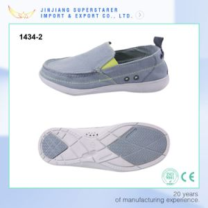 Simple Men Size EVA Slip on Casual Shoes with Canvas Uppper Breathable pictures & photos