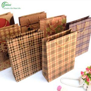 Brown Kraft Paper Packaging Bag with Window (KG-PB010) pictures & photos