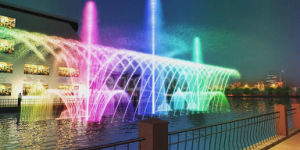 Outdoor Multimedia Color Changing Floating Dancing Fountain pictures & photos