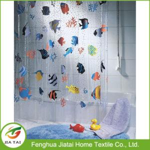 Swiss Design Fashion Fish PEVA Clear Plastic Shower Curtain
