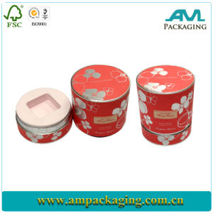 Rolled Edge Custom Printed Cheap Round Tube Box Skin Care Beauty Packaging pictures & photos