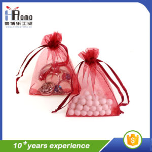 Drawstring Organza Gift Pouches Wholesale pictures & photos