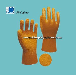 Slip-Resistant PVC Fully Coated Glove with Gauntlet Cuff (Work Glove-PVC Glove) pictures & photos
