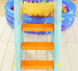 2017 Deer Cheap Style Plastic Slide and Swing with Basket Hoop (HBS17004A) pictures & photos