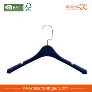 Black Solid Plastic Shirt Hanger with Non-Slip Shoulder pictures & photos