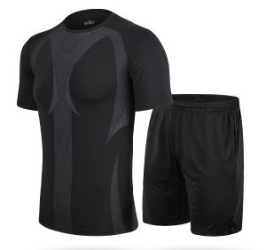 Men Quickly Dry Yoga Suit/ Mens Short Sleeve pictures & photos