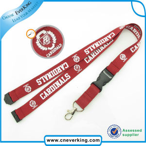 Hot Sale Silkscreen Printed Neck Lanyard with safety Buckle pictures & photos