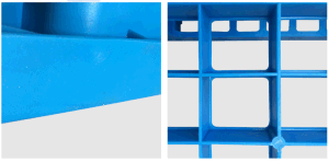 1100*1100*150mm Plastic Tray Grid Faced 1t Dynamic Plastic Pallet for Warehouse Storage (ZG-1111A) pictures & photos