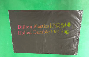 HDPE Rolled Flat Plastic Bag Black Garbage Bag pictures & photos