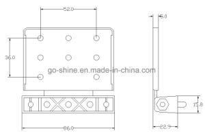 GS-D10 Standard Door Saddle Hinges pictures & photos