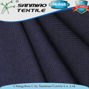Indigo 30s Knitted Denim Rib Fabric for Garments pictures & photos