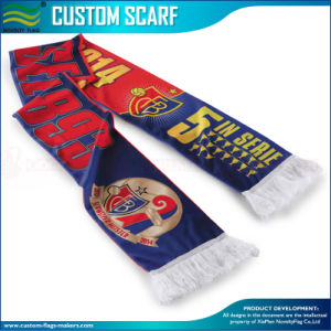 Custom Printed Football Fan Supporter Long Scarf pictures & photos