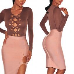 Fashion Women Sexy Slim Velvet V-Neck Bandage Clothes Dress pictures & photos