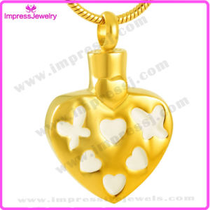 Gold-Plated Cremation Jewelry Necklace for Ash Urn Pendant Jewelry pictures & photos