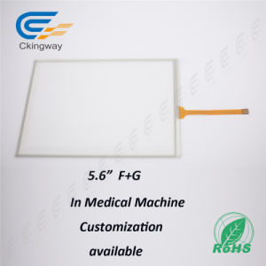 "Custom High Quality 5.6"" Inch Touch Panel Cover Glass for Medical Industry pictures & photos"