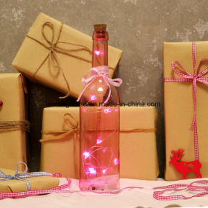 10 Red Heart LED Micro Fairy String Light Bottle for Valentine′s Day Lovers Gifts pictures & photos
