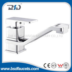 Russia Market Single Lever Square Aerator Rotating Chrome Kitchen Faucets pictures & photos