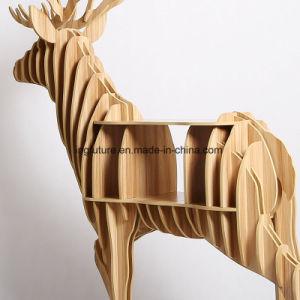DIY Wooden Decorative Elk Side Shelf Table pictures & photos